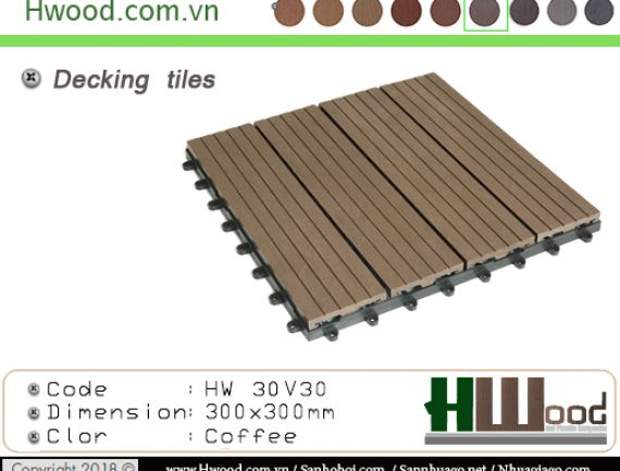 Decking tiles coffee